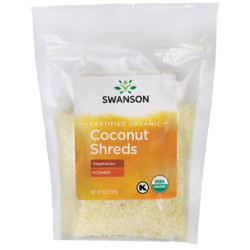 Swanson Organic Certified Organic Unsulphured Coconut Shreds