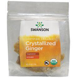 Swanson OrganicCertified Organic Crystallized Ginger w/ Raw CaneSugar