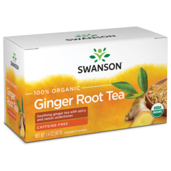 Swanson Organic100% Certified Organic Ginger Root Tea