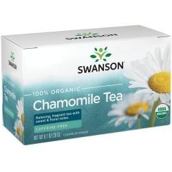 Swanson Organic100% Certified Organic Chamomile Tea