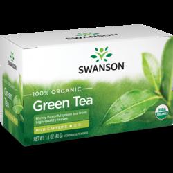 Swanson Organic100% Certified Organic Green Tea