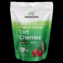 Swanson Organic Cerezas agrias liofilizadas sin azúcar