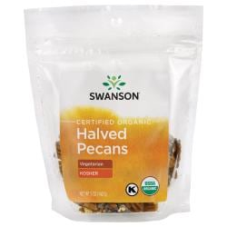 Swanson OrganicCertified Organic Pecans Raw, Halved No Salt