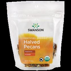 Swanson OrganicCertified Organic Pecans Raw, Halved No Salt