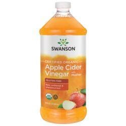 Swanson OrganicCertified Organic Apple Cider Vinegar with Mother