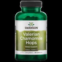 Swanson Superior Herbs Valerian Chamomile Hops Sleep Complex