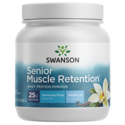 Swanson UltraSenior Muscle Retention Protein Powder Natural Vanilla