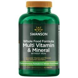 Swanson UltraMulti and Mineral without Iron Whole Food Formula