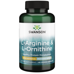Swanson Ultra AjiPure L-Arginine (Pharmaceutical Grade) with Ornithine