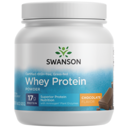 Swanson UltraGrass-Fed, Certified rBGH-Free Chocolate Whey Protein Powder
