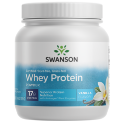 Swanson UltraGrass-Fed, Certified rBGH-Free Vanilla Whey Protein Powder