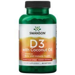 Swanson UltraVitamin D-3 with Coconut Oil - Higher Potency