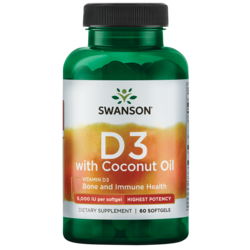 Swanson UltraHigh Potency Vitamin D-3 with Certified Organic Coconut