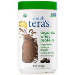 Tera's WheyGrass Fed Organic Whey Protein - Fair Trade Dark Chocol