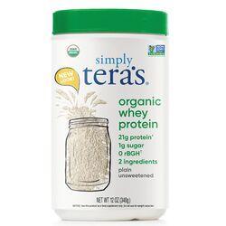 Tera's WheyGrass Fed Organic Whey Protein - Organic Plain Unsweetened