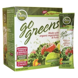 To Go Brands Go Greens Powder Drink Mix - Green Apple Flavor