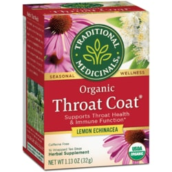 Traditional MedicinalsOrganic Lemon Echinacea Throat Coat Tea