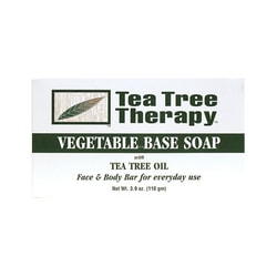 Tea Tree Therapy Vegetable Base Soap Bar with Tea Tree Oil