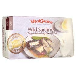 Vital ChoiceWild Sardines in Organic Extra Virgin Olive Oil/Chili