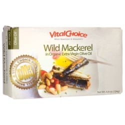 Vital Choice Mackerel in Organic Olive Oil
