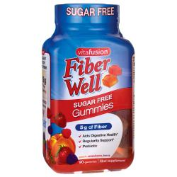 VitafusionFiber Well Sugar Free Gummies - Peach, Strawberry, Berry