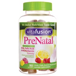 Vitafusion PreNatal DHA & Folic Acid Gummy Vitamins Berry Lemon Cherry