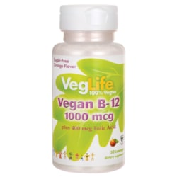 VegLifeVegan B-12 - Sugar Free - Orange Flavor