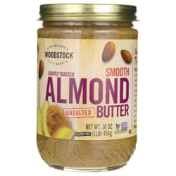 Woodstock Farms Lightly Toasted Smooth Unsalted Almond Butter