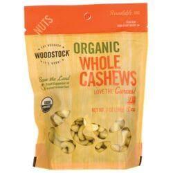 Woodstock FoodsOrganic Whole Cashews