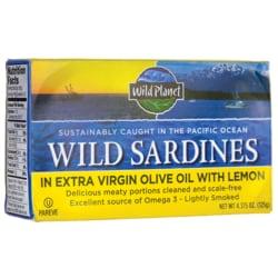 Wild Planet Wild Sardines in Extra Virgin Olive Oil With Lemon