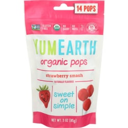 YumEarthOrganic Strawberry Lollipops
