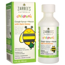 Zarbee'sChildren's Cough Syrup + Mucus Relief - Grape