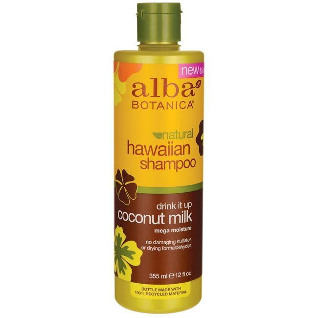 Alba Botanica Natural Hawaiian Shampoo - Drink It Up Coconut Milk
