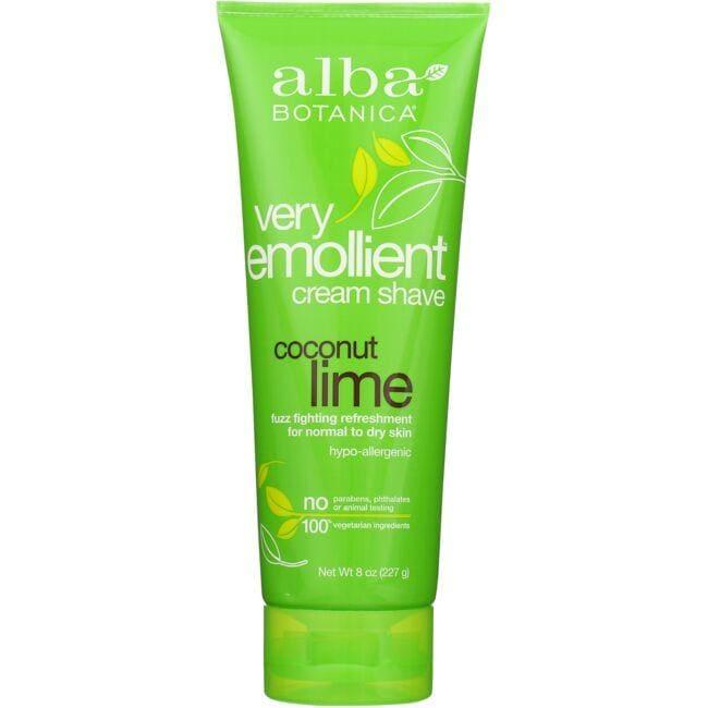 Alba BotanicaVery Emollient Cram Shave - Coconut Lime