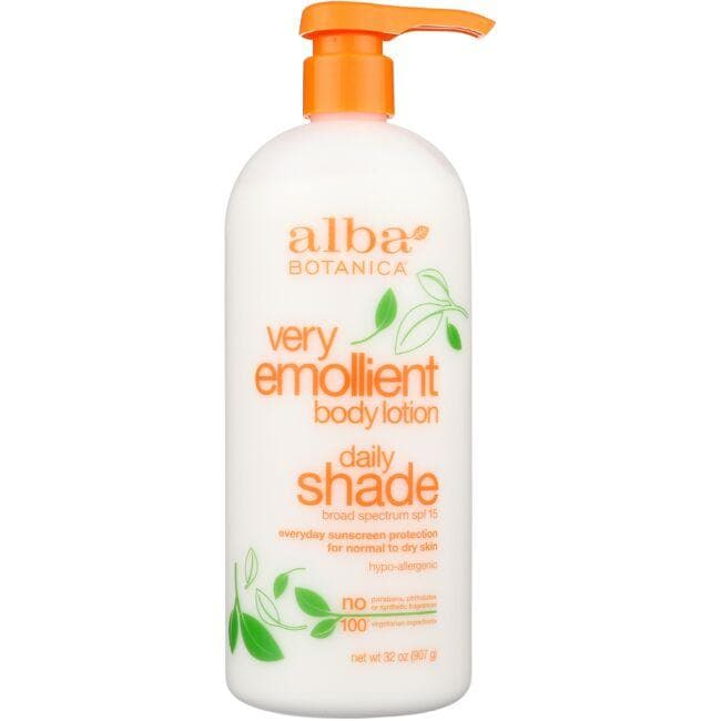 Alba Botanica Very Emollient Body Lotion - Daily Shade Formula - SPF 15