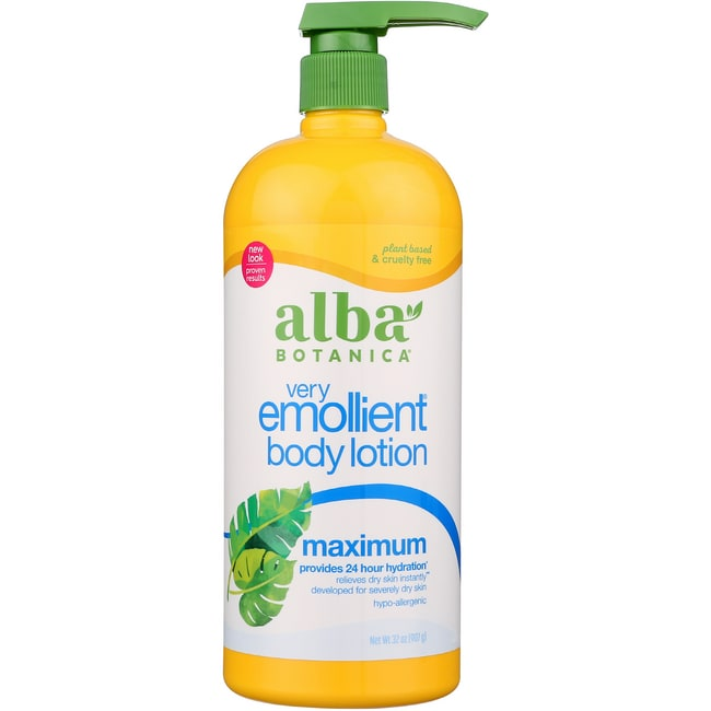 Alba Botanica Very Emollient Body Lotion Maximum Dry Skin Formula