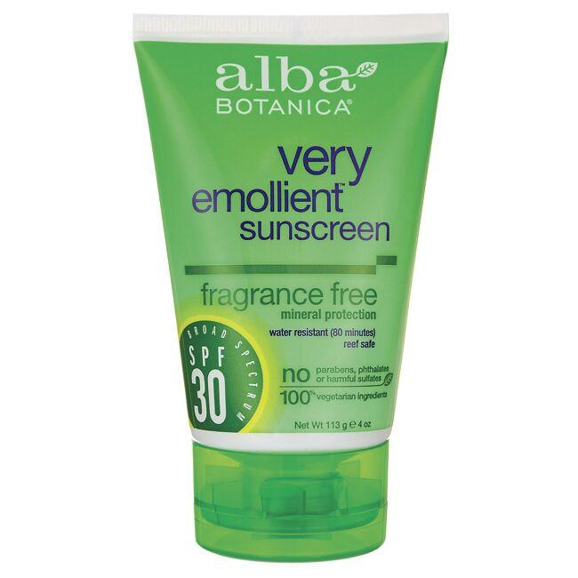 Alba Botanica Very Emollient Sunscreen - Fragrance Free - SPF 30