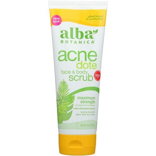 Alba BotanicaAcnedote Face & Body Scrub - Maximum Strength