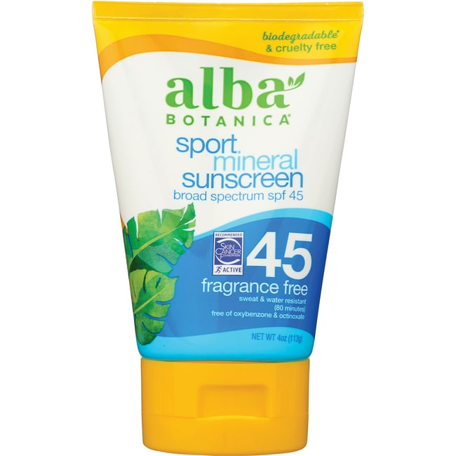 Alba BotanicaVery Emollient Suncreen - Sport - SPF 45