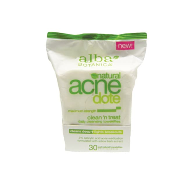 Alba BotanicaNatural Acne Dote Clean 'N Treat Towelettes