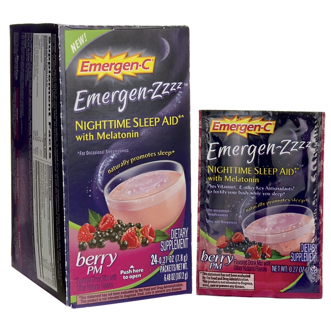 Alacer Emergen-CEmergen-ZZZZ Nighttime Sleep Aid Berry PM