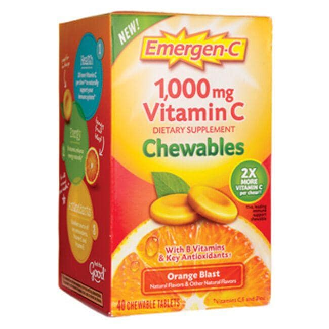Alacer Emergen-C Emergen-C Vitamin C Chewables Orange Blast