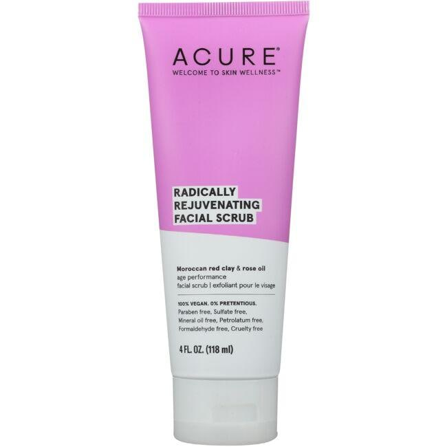 Acure Radically Rejuvenating Facial Scrub 4 Fl Oz Scrub