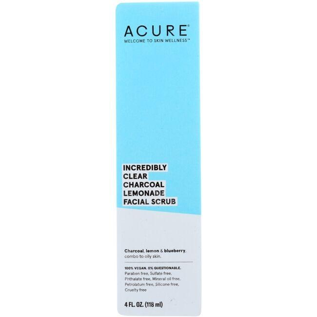 Acure Incredibly Clear Facial Scrub - Charcoal Lemonade