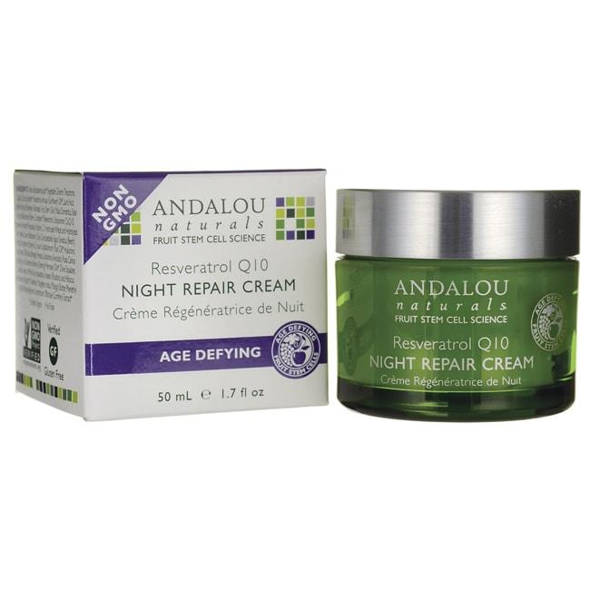 andalou naturals age defying resveratrol q10 night repair cream 1 7 fl oz 50 ml cream. Black Bedroom Furniture Sets. Home Design Ideas