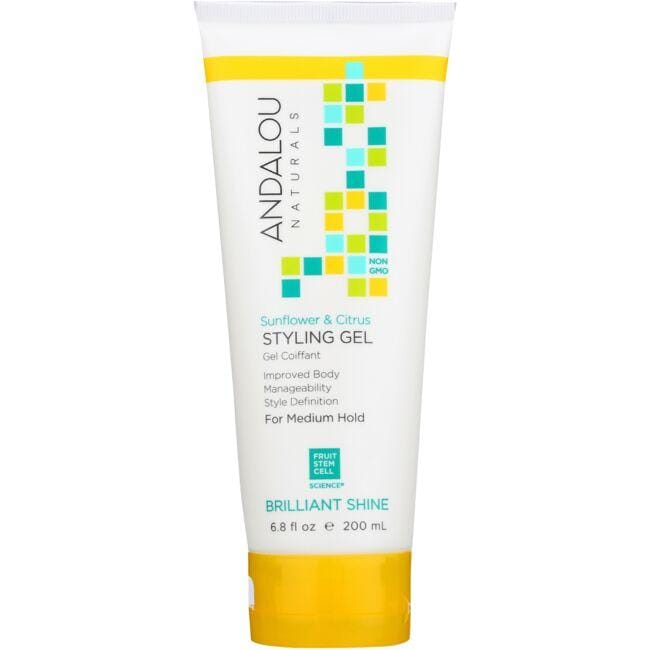 Andalou Naturals Medium Hold Styling Gel - Sunflower & Citrus