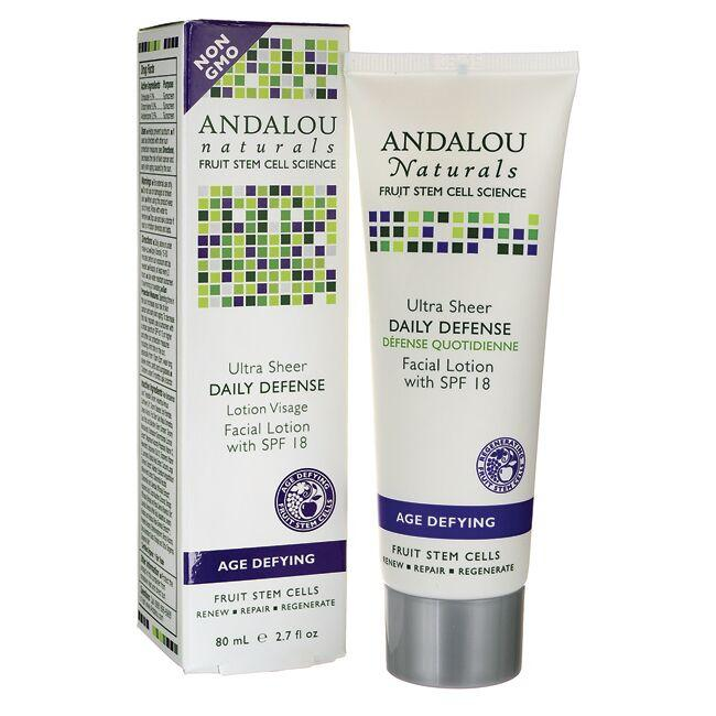 Andalou Naturals Age Defying Ultra Sheer Daily Defense Facial Lotion - SPF 18