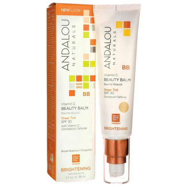 Andalou Naturals Brightening BB Vitamin C Beauty Balm - Sheer Tint- SPF 30