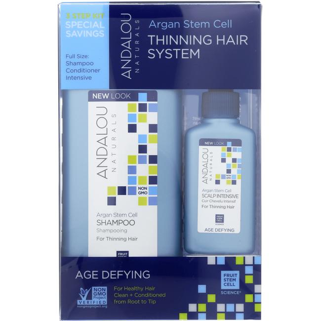 Andalou Naturals Argan Stem Cell Thinning Hair System