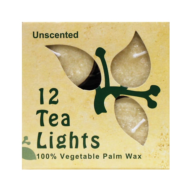 Aloha BayPalm Wax Tea Light Candles Cream Unscented